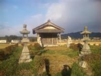上松の田んぼの中心で